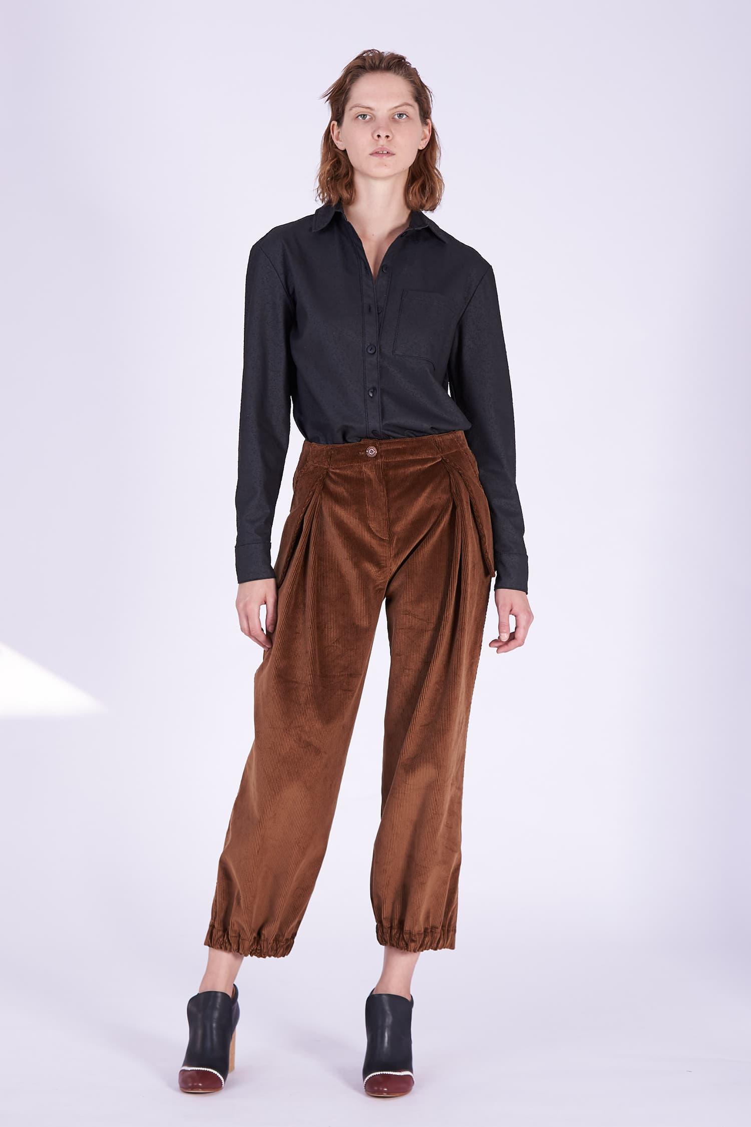 Acephala AW2018-19 Brown Corduroy Trousers // Brązowe Spodnie Sztruksowe