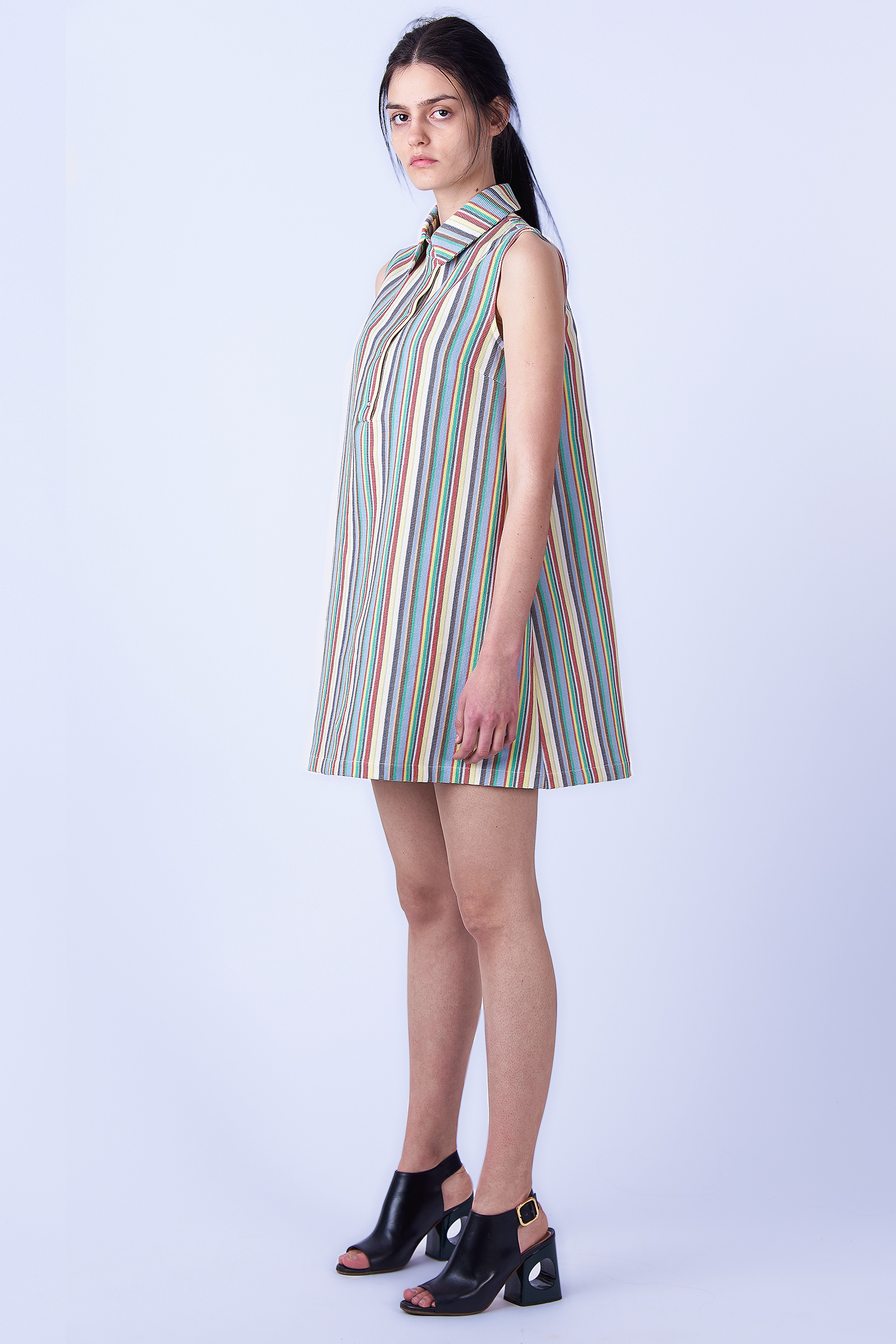 Acephala SS2019 Slavic Goddesses Color Striped Midi Dress side