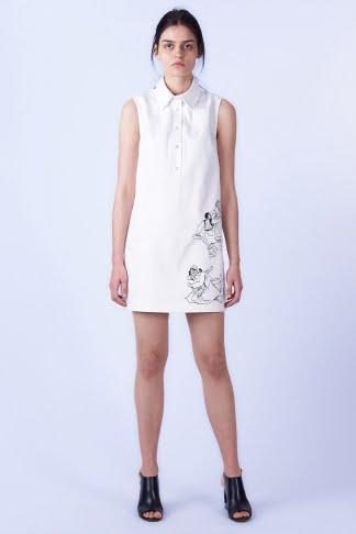 Acephala SS2019 Slavic Goddesses - White Print Mini Dress Sukienka Biała Print Front